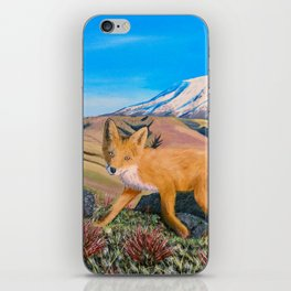 Red Fox in The Rocky Mountains iPhone Skin