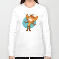 cancer Long Sleeve T-shirts featuring Cancer by Chiara Zava