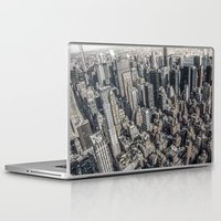 manhattan Laptop & iPad Skins featuring Manhattan by Nicklas Gustafsson