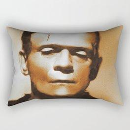 Boris Karloff, Frankenstein, Hollywood Legend Rectangular Pillow