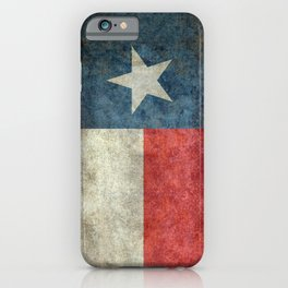 Texas state flag, Vintage banner version iPhone Case