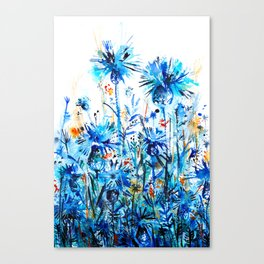 thickets of cornflowers Canvas Print