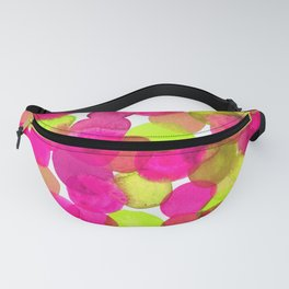 Watercolor Circles - Pink & Lime Green Fanny Pack