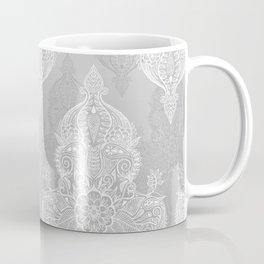 Lace & Shadows 2 - Monochrome Moroccan doodle Coffee Mug