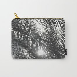Tropic Island Palm Tree Leaves Upshot At Sunset Carry-All Pouch