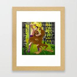 Legend vs Legend - Killer Kowalski vs. Big Foot Framed Art Print