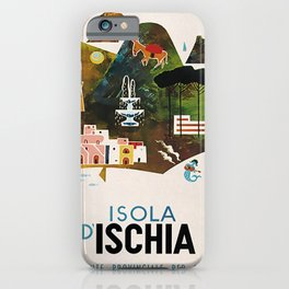 retro Isola Ischia iPhone Case