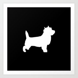 Cairn Terrier dog breed black and white dog pattern pet dog lover minimal Art Print