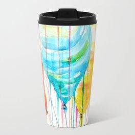Balloons Watercolor Travel Mug