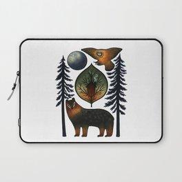 The Bear and the Barn Owl Laptop Sleeve