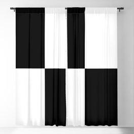 Black & White Squares Blackout Curtain