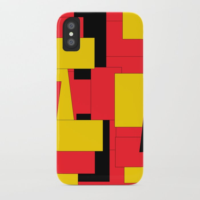 Geometric Pleasing Colors iPhone Case