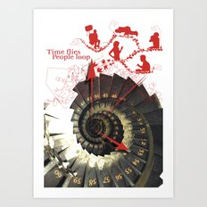 Time flies Art Print