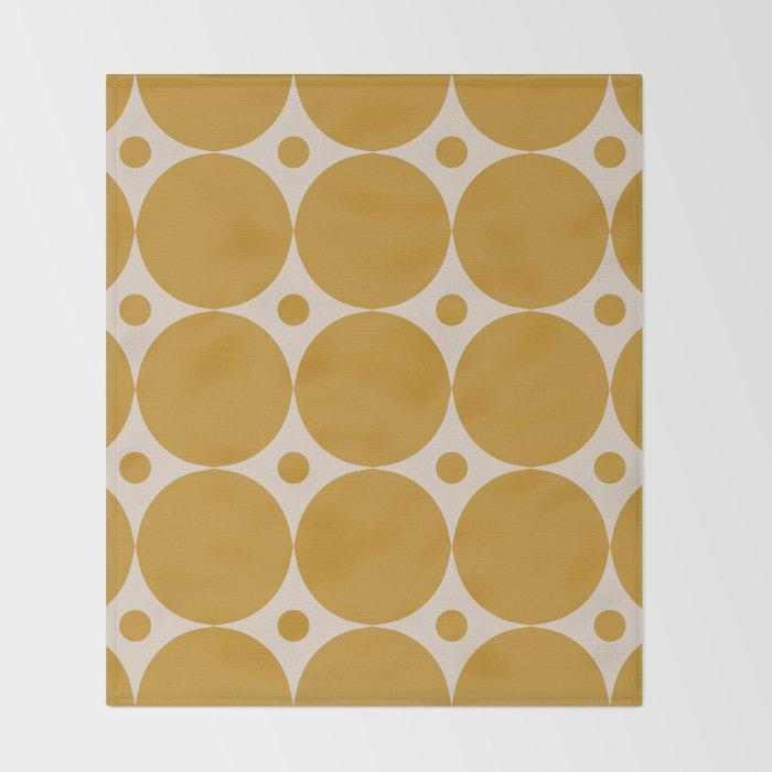 Futura Mid-century Modern Minimalist Abstract Pattern in Mustard Gold Throw Blanket