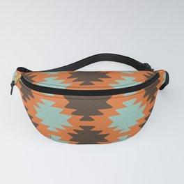 Southwestern pattern orange Fanny Pack