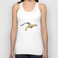 banana Tank Tops featuring Banana by Barbara Graetzer