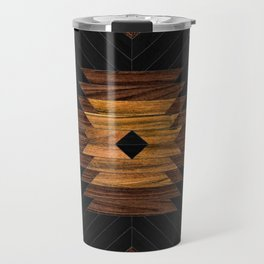 Urban Tribal Pattern No.7 - Aztec - Wood Travel Mug