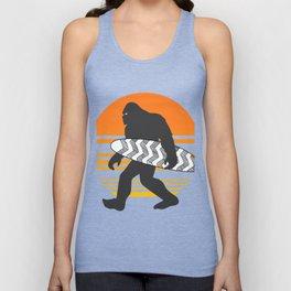 Bigfoot Surfing, Hide Seek and Go Surf  Unisex Tank Top