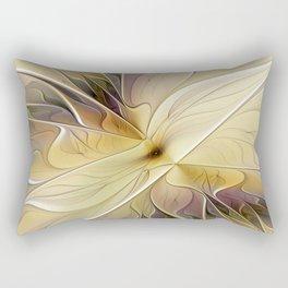 Floral Beauty, Abstract Fractal Art Flower Rectangular Pillow