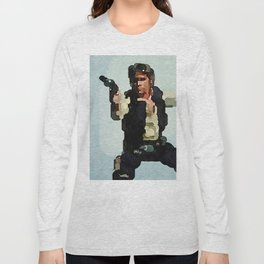 Solo Shot First (Abstract Watercolor) Long Sleeve T-shirt