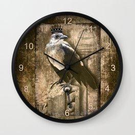 Vintage Grackle Queen Wall Clock