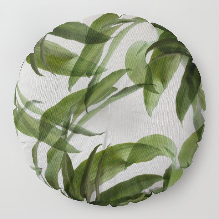 Tropical leaves Floor Pillow