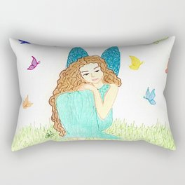 Fairy with butterfies Rectangular Pillow