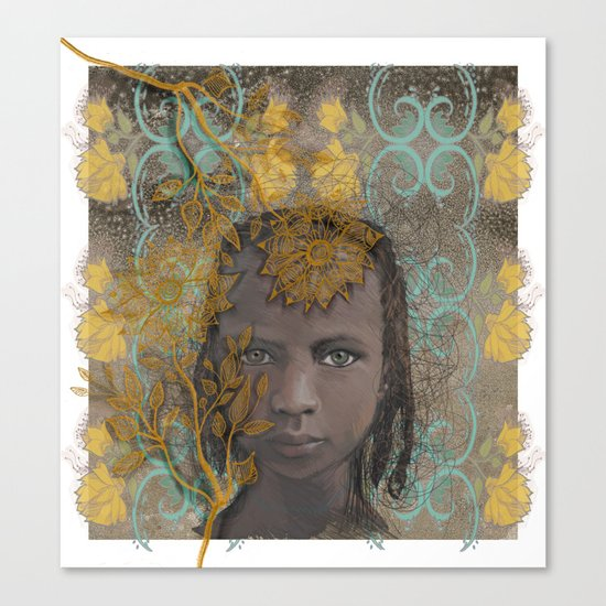 Berber girl Canvas Print