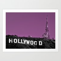 hollywood Art Prints featuring Hollywood  by Rob Hawkins Photography