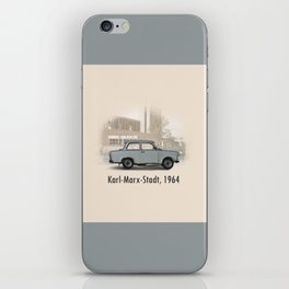 A Trabant in Karl-Marx-Stadt iPhone Skin