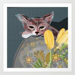 Watchful Kitten Art Print