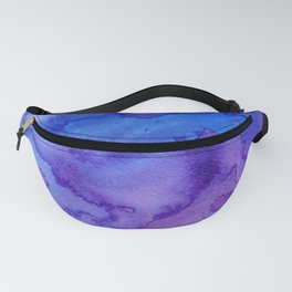 Blue purple pink hand painted watercolor pattern Fanny Pack