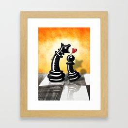 Bold Romantic Proposal for a Queen Framed Art Print