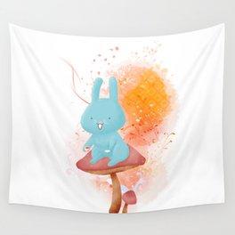 Kit Tea Rabbit Wall Tapestry