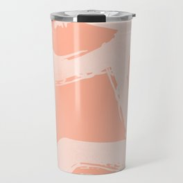 Sweet Life Triangle Dots Peach Coral Pink Travel Mug