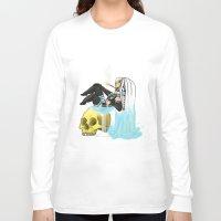 cherry Long Sleeve T-shirts featuring cherry by kawaii shark
