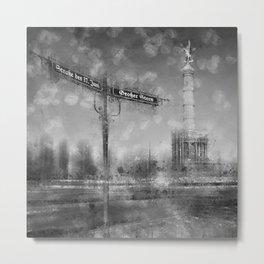 CityArt BERLIN Victory Column | monochrome Metal Print