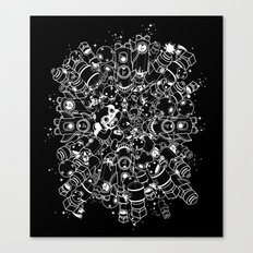 For Good For Evil - White on Black Canvas Print
