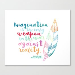 Alice In Wonderland | Quote 1 Canvas Print