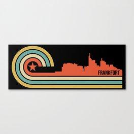 Retro Frankfort Kentucky Skyline Canvas Print