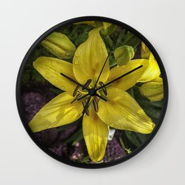 Hemerocallis Wall Clock