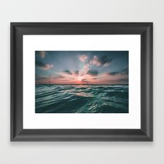 Deep Green Float Framed Art Print