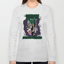 100% Smokin' Cannabis - Support Prop 215 - Smokin' Joker With Leaves Long Sleeve T-shirt