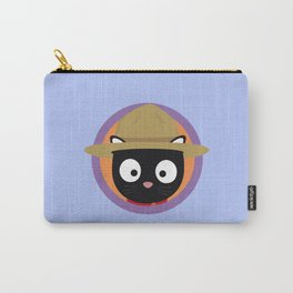 Park ranger cat in purple circle Carry-All Pouch