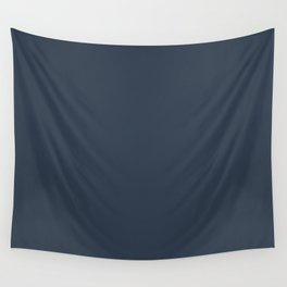 Dark Navy Blue Solid Color Inspired by 2020 Color of the Year Naval SW6244 Wall Tapestry