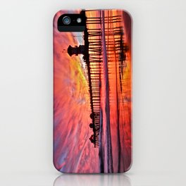 Sunset Huntington Beach Pier CA   iPhone Case