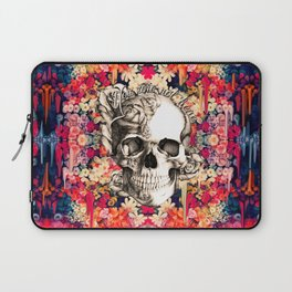 You are not here Day of the Dead Rose Skull. Laptop Sleeve