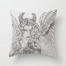 angel or demon Throw Pillow