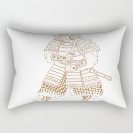 Bushi Samurai Warrior Drawing Rectangular Pillow