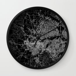 Fort Worth map Wall Clock